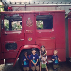 Kids & Fire Engine