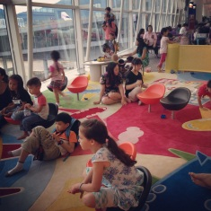 Kids zone at HK airport
