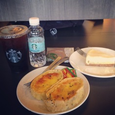 Starbucks lunch at airport